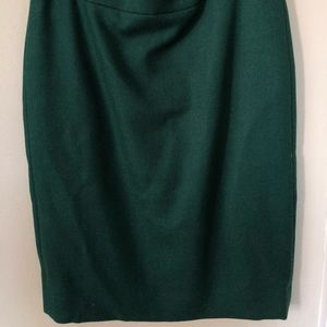 J. Crew No. 2 Pencil Skirt in forest green